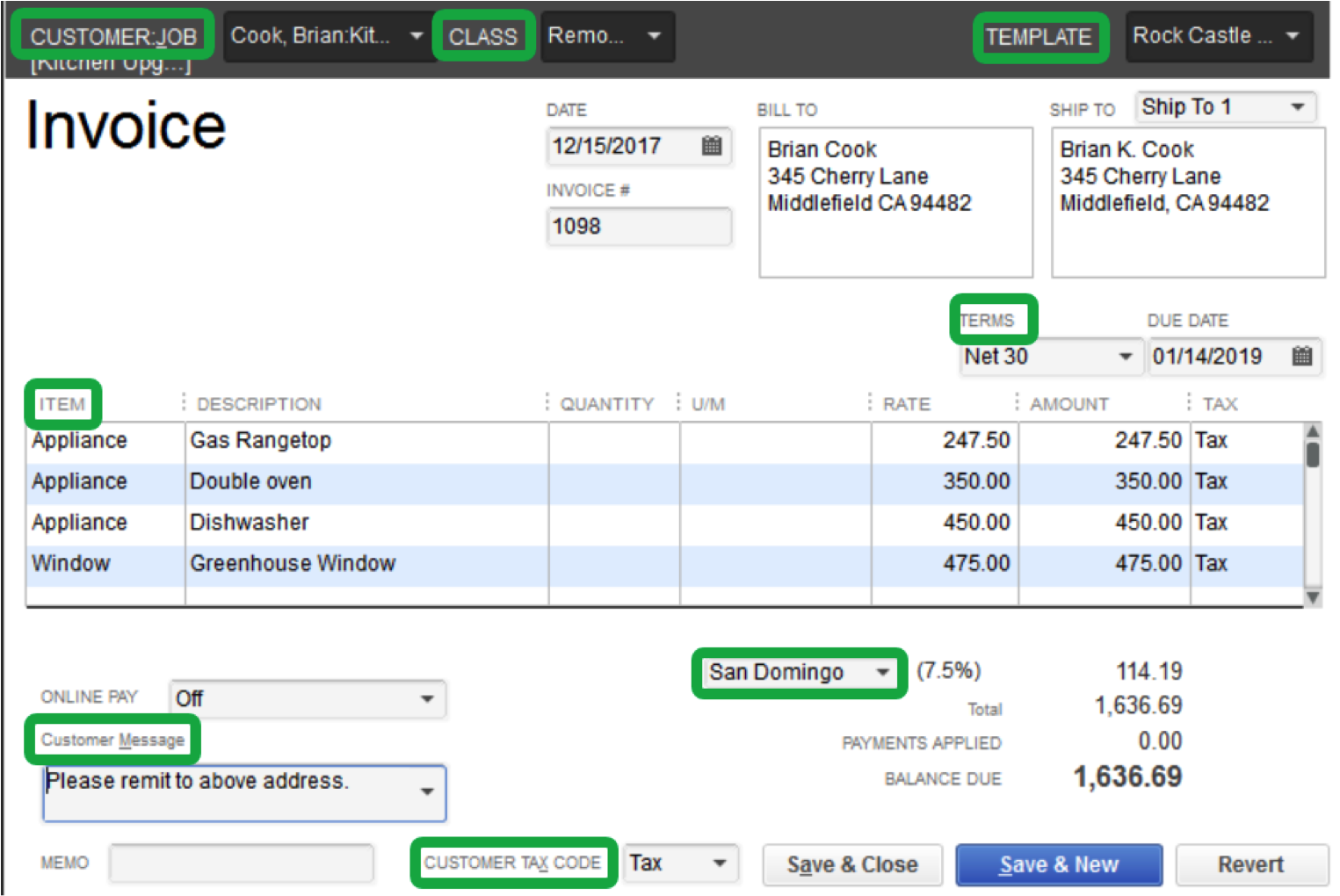 quickbooks shortcuts: most useful and least used - firm of the future, Invoice templates