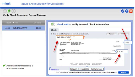 Neat Receipts Scanner Driver Windows 7 Pdf Intuits Check Solution For Quickbooks How To Save Time  Firm Of  Official Receipt Template Word with Receipt For Scones Word If You Choose To Do It Now Intuit Will Look For An Appropriate Open Invoice  If Unable To Find And Match A Button Will Appear  Air Force Lost Receipt Form