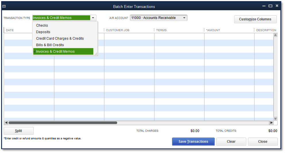 Batch Entering Transactions In QuickBooks Accounting Shortcuts - Quickbooks invoice memo field