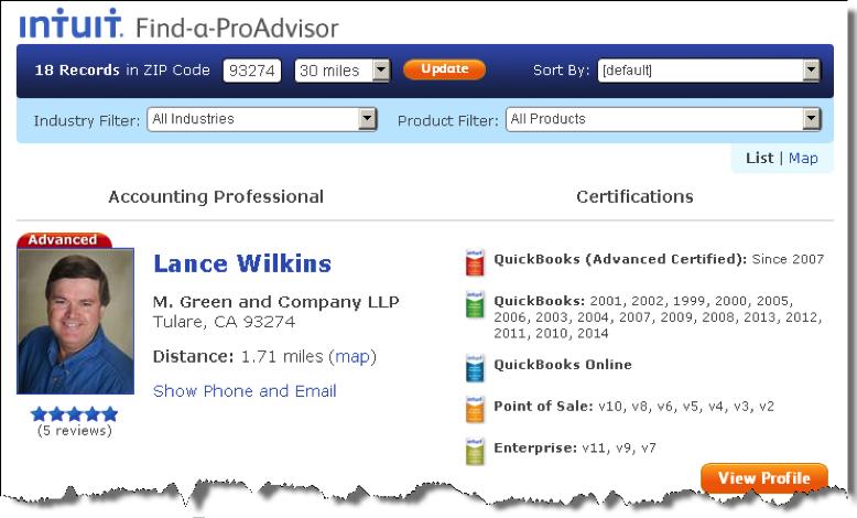 Find a ProAdvisor