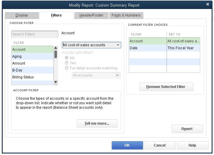 Customize Report Columns