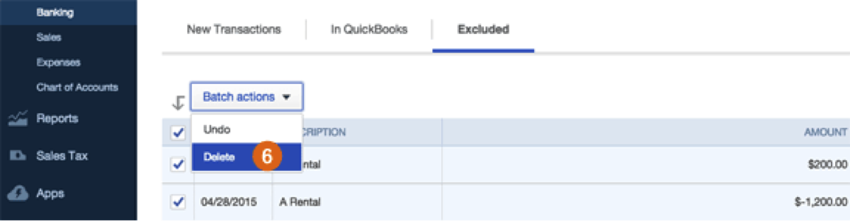 how to delete transfers in quickbooks desktop